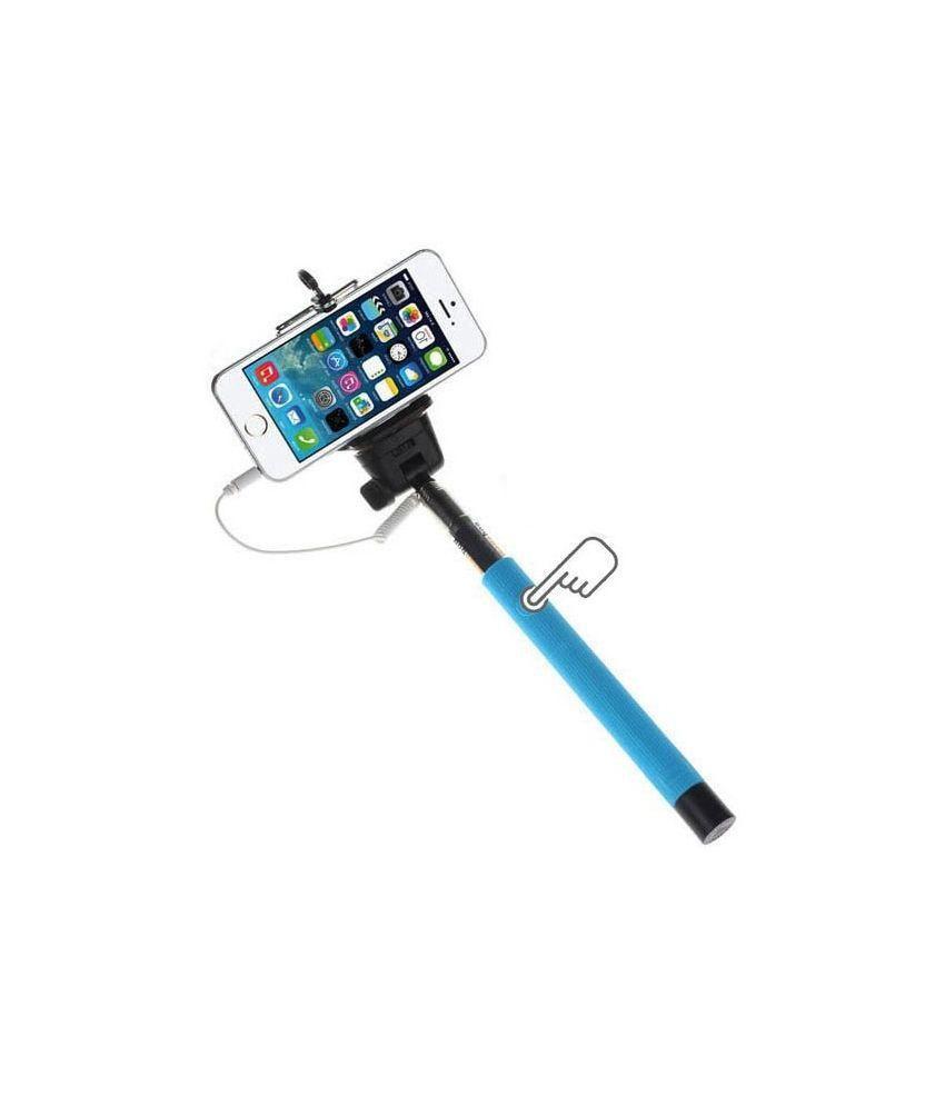 totu wired mono pod selfie stick with aux cable multicolor selfie sticks accessories. Black Bedroom Furniture Sets. Home Design Ideas
