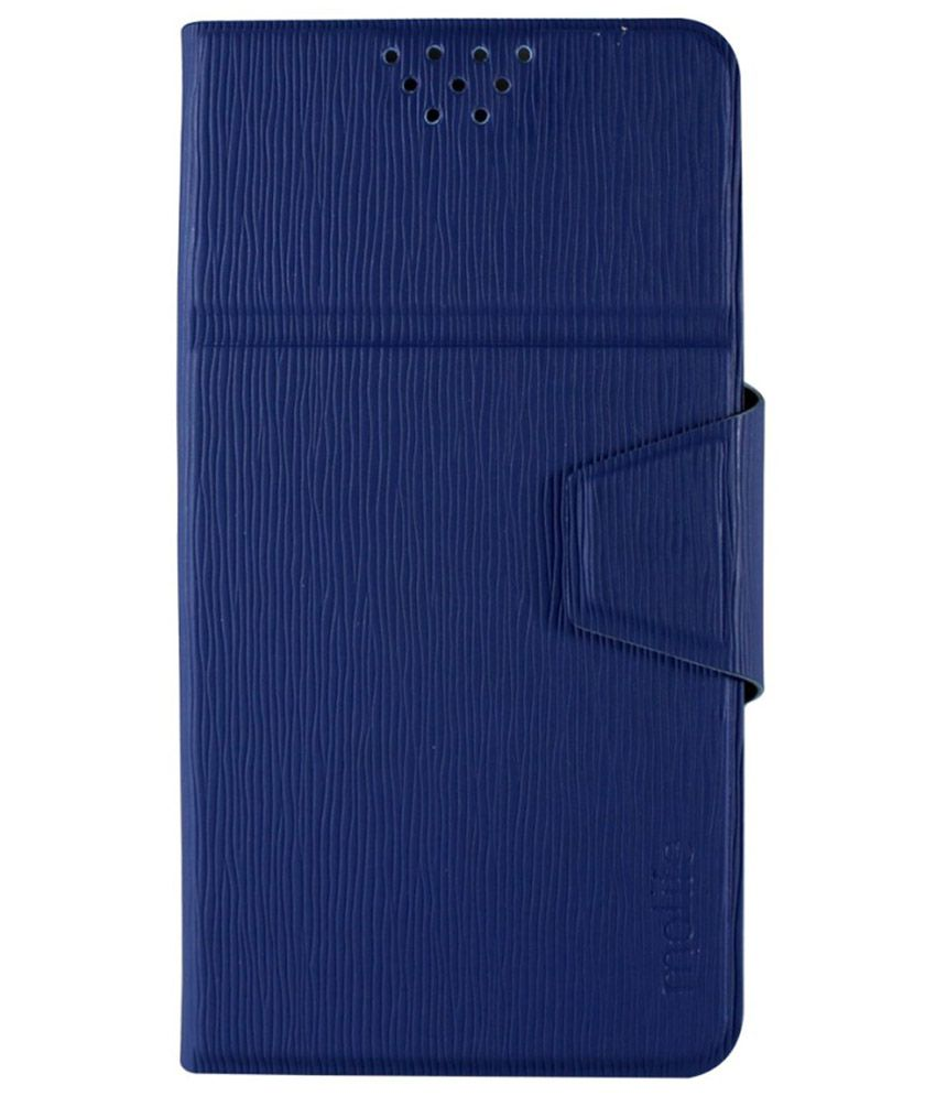 Molife Universal  Flip Cover For Universal Mobile - Blueue
