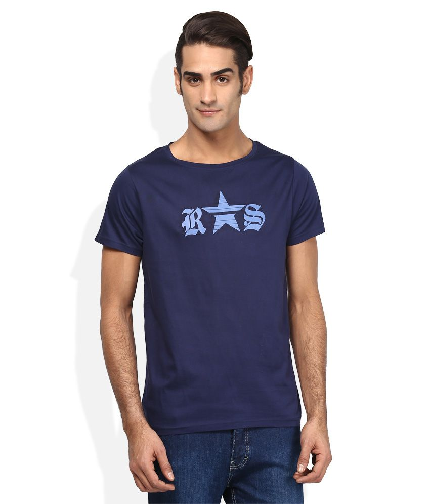 RS By Rocky Star Navy Round Neck T Shirt