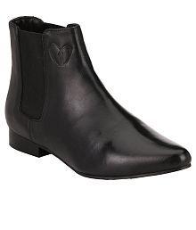 Delize Black Ankle Boots