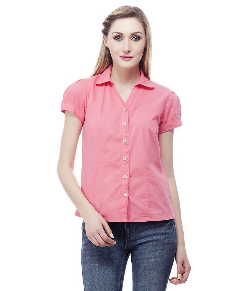 Clo Clu Pink Cotton Shirts