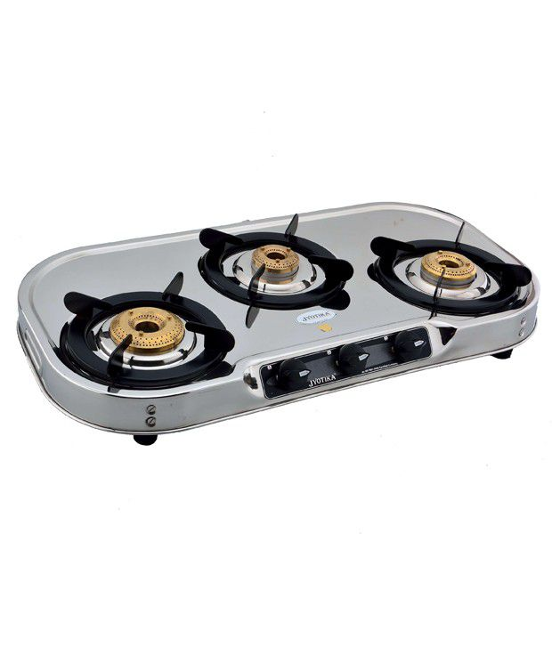 Jyotika 319TN Trlly Cook Manual Ignition Gas Cooktop (3 Burners)