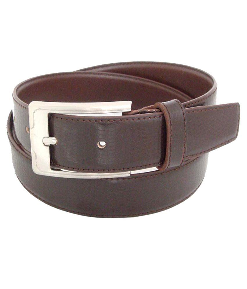 Sfa Brown Formal Single Belt For Men