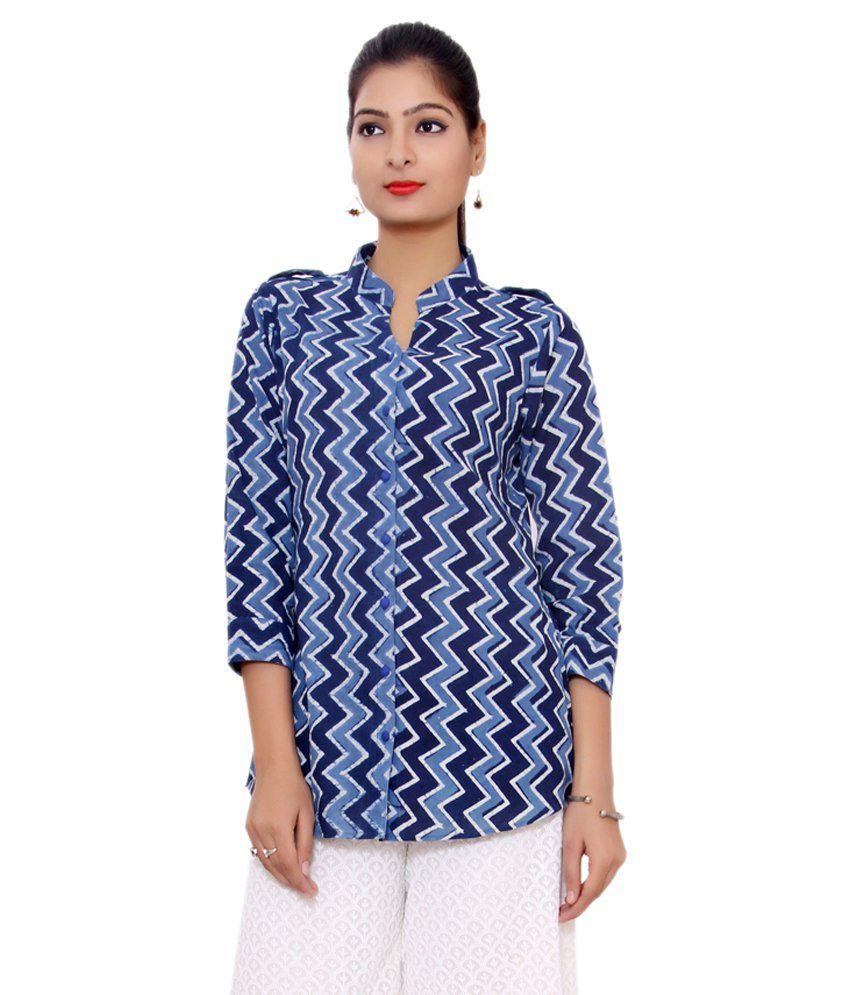 Shuddhi Blue Cotton Kurti