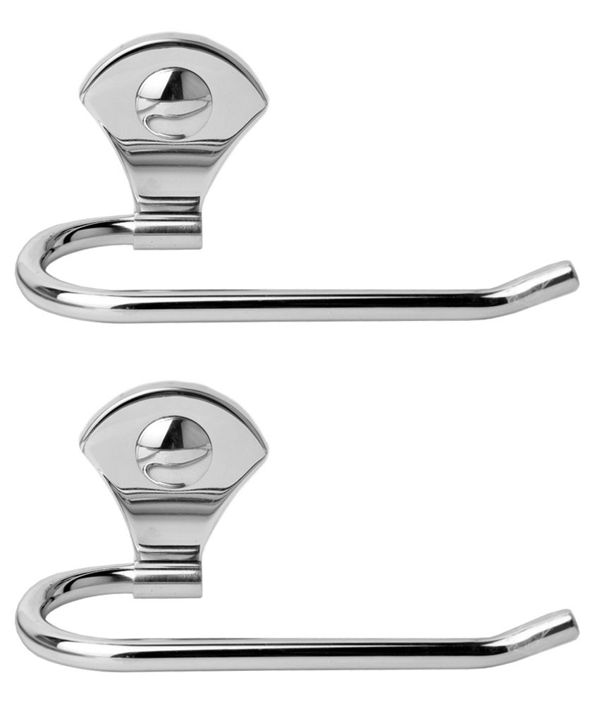 Doyours Stainless Steel Glossy Towel Holder   Set Of 2