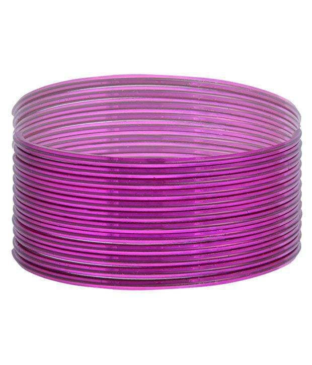 Zara Enterprises Pink Stainless Steel Bangle Set