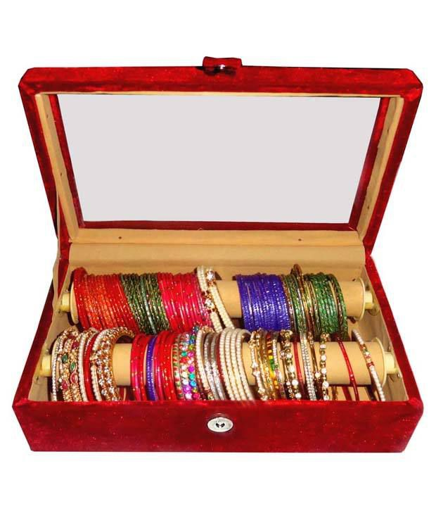 Atorakushon Combo Deal Of 2 Roll Rod Bangles Box With Clear Plastic 1 Saree Cover and 1 Blouse Cover