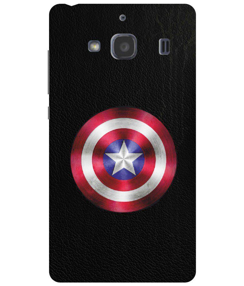 Dot Print Back Cover For Xiaomi Redmi 2 Prime Captain America Shield Softcase S2 Printed Case