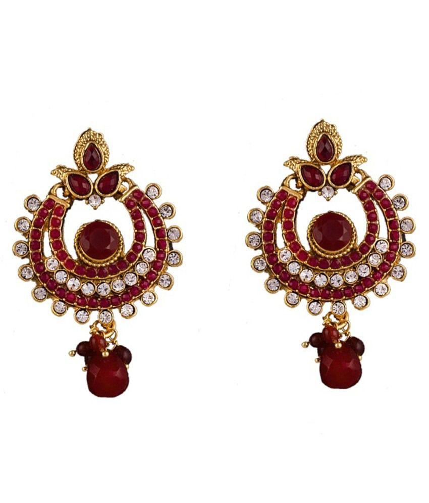 R18jewels-fashion&u Red Brass Drop Earrings