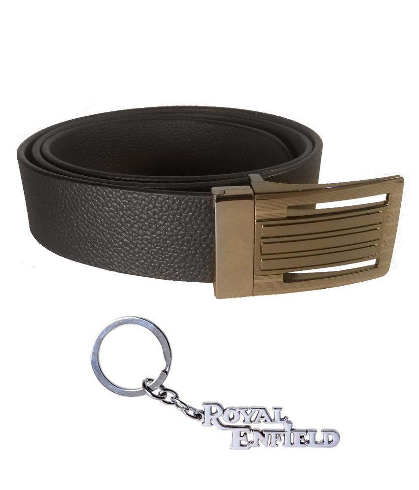 Rocket Market Black Formal Reversible Belt For Men