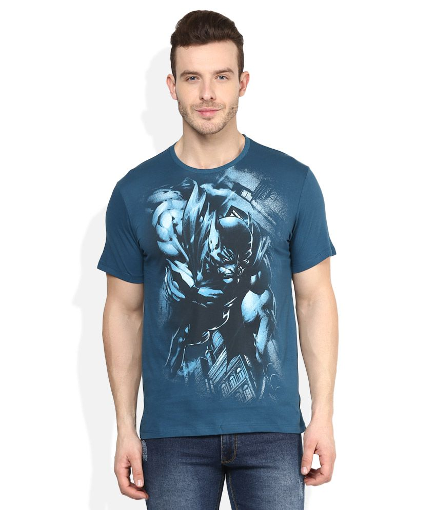 Batman Blue Printed T-Shirt