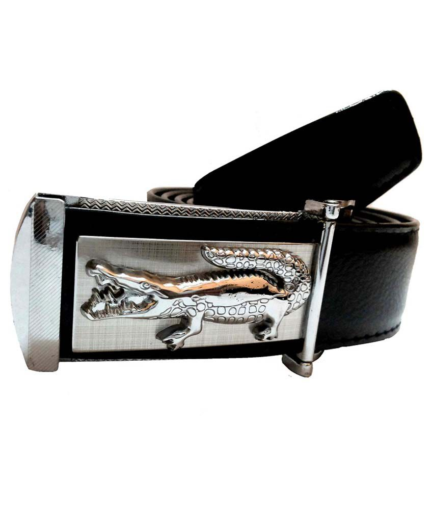 Mode Black Leather Belt For Men