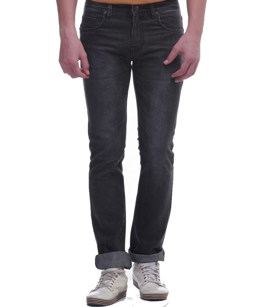 Jogur Grey Cotton Blend Jeans