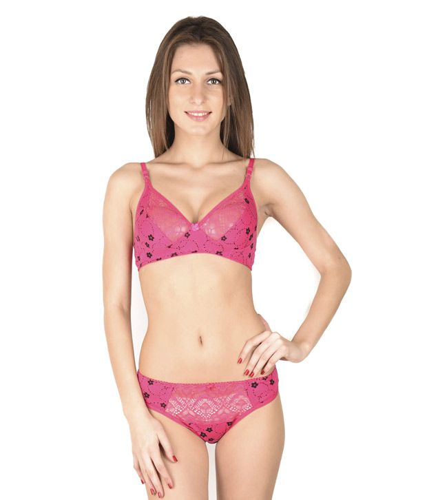 5d2931cb52 Buy Simoni Pink Cotton Bra   Panty Sets Online at Best Prices in India -  Snapdeal