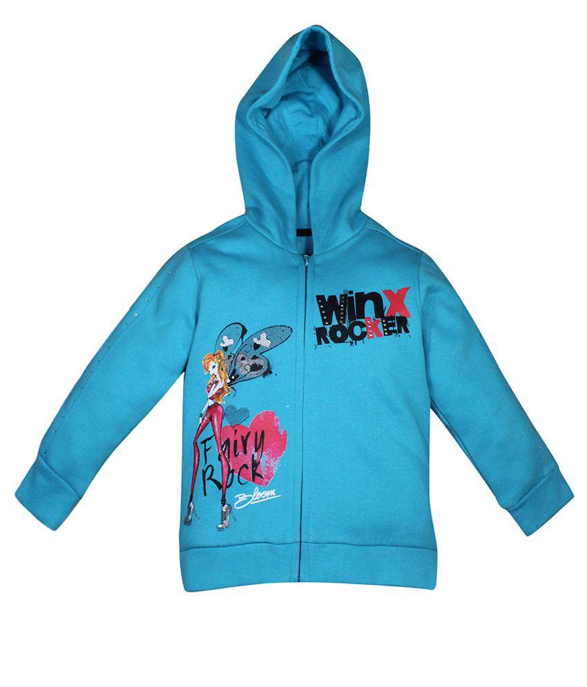 FS Miniklub Winx Blue Hooded Sweatshirt