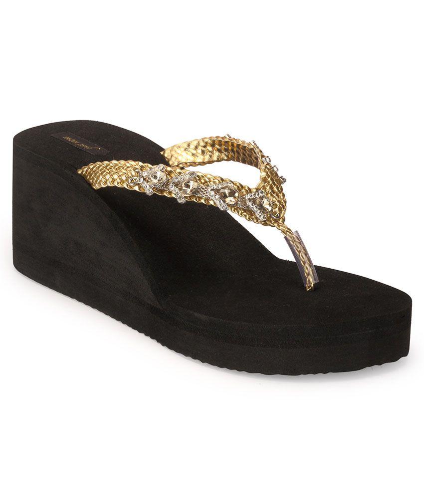 Something Different Black Wedge Heels