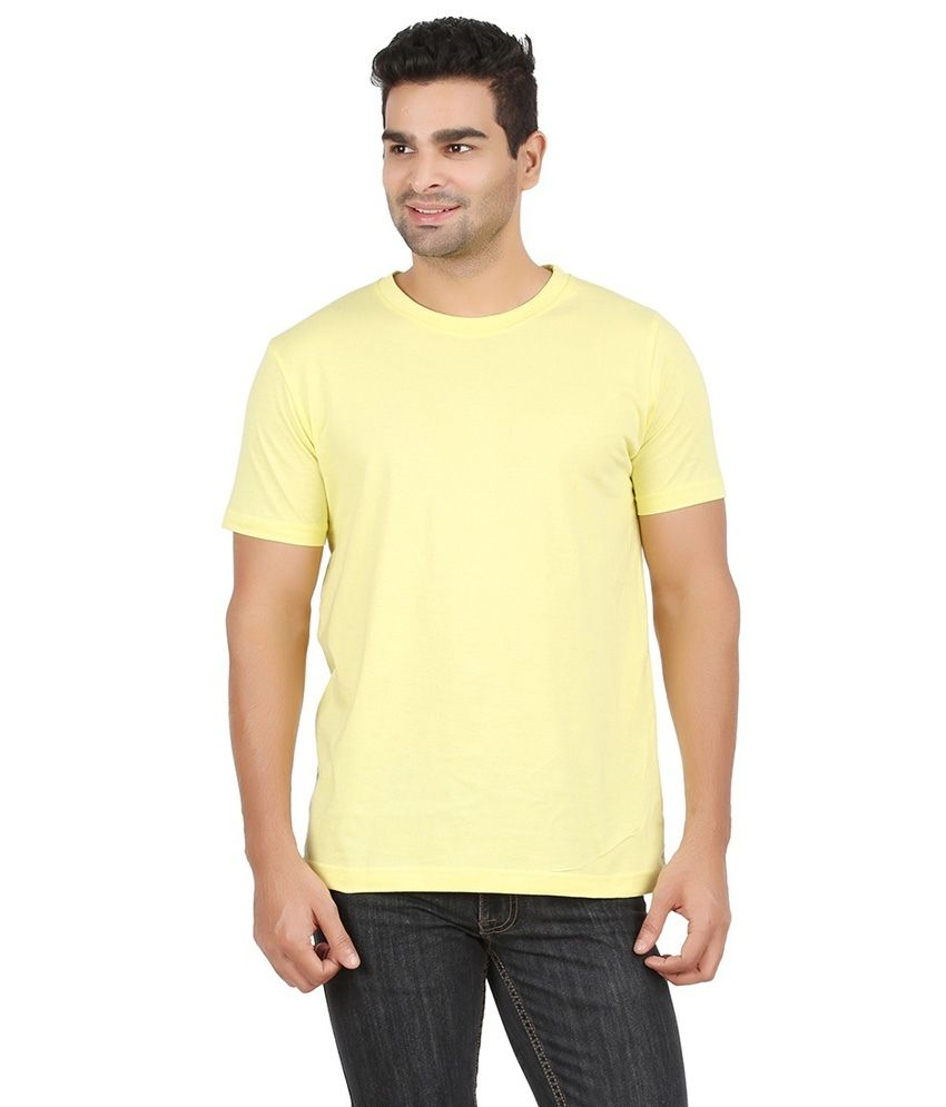 Sri Vaari Yellow Cotton T Shirt