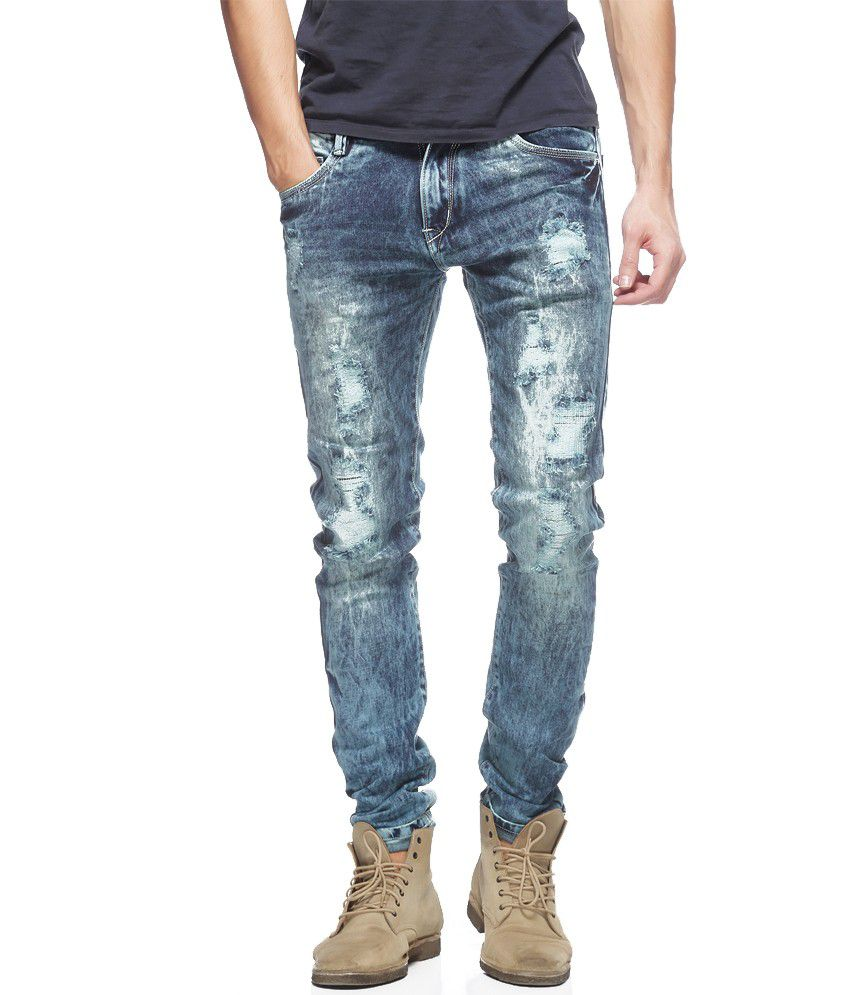 Stag By Fasnoya Blue Skinny Fit Jeans
