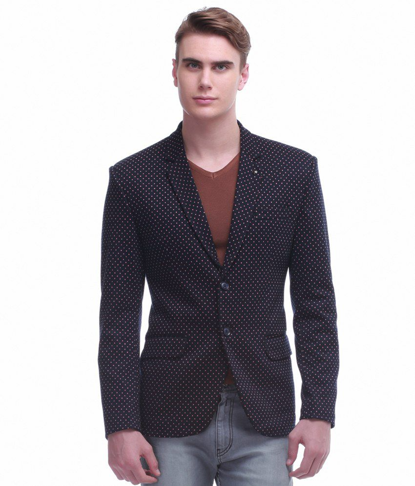 Jogur Navy Cotton Blend Blazer