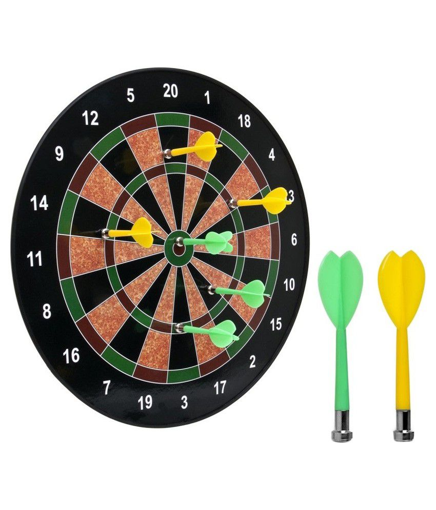 AZI Multicolour Magnetic Dart Board With Darts (6 Pieces)