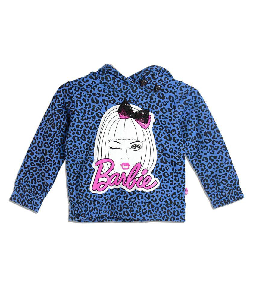Barbie Blue and Black Cotton Sweatshirt