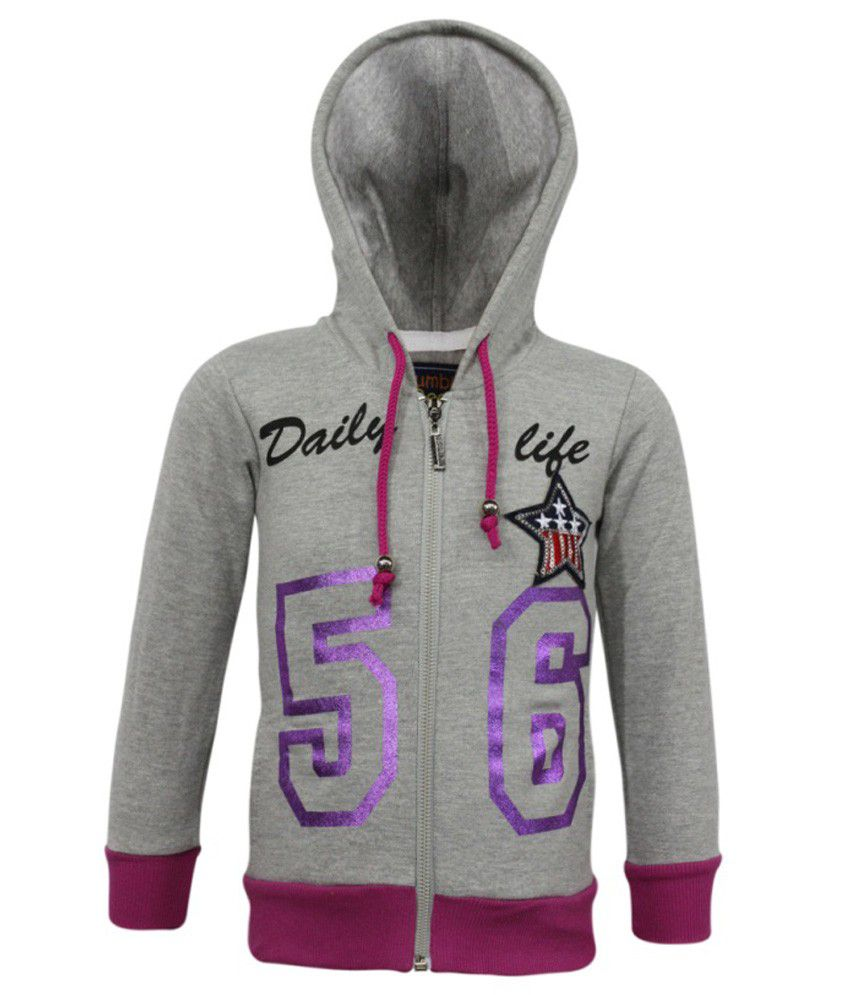 Kothari Grey Fleece Sweatshirt With Hood