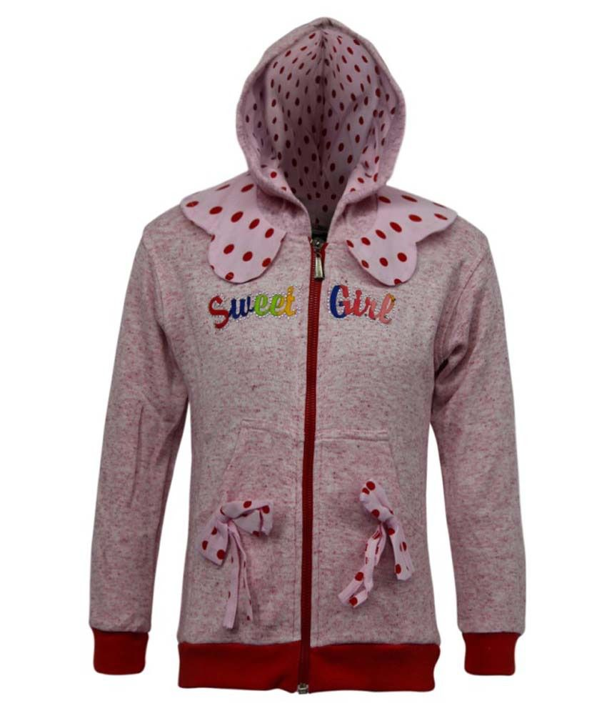 Kothari Pink Fleece Hooded Sweatshirt