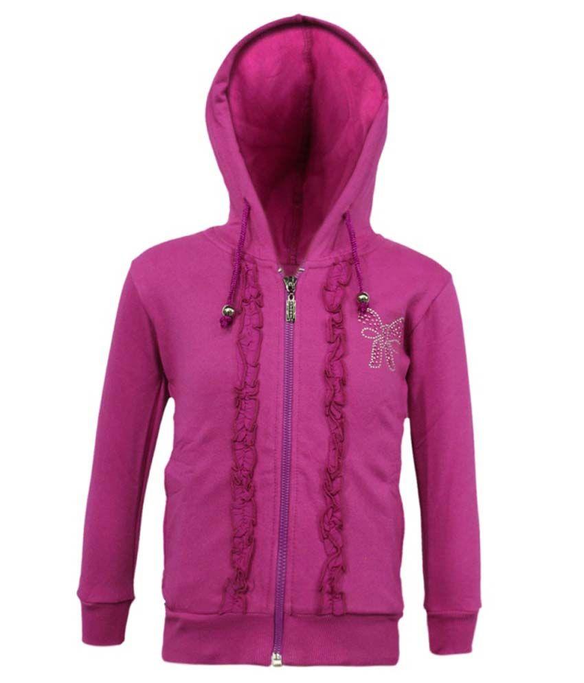 Kothari Purple Fleece Hooded Sweatshirt