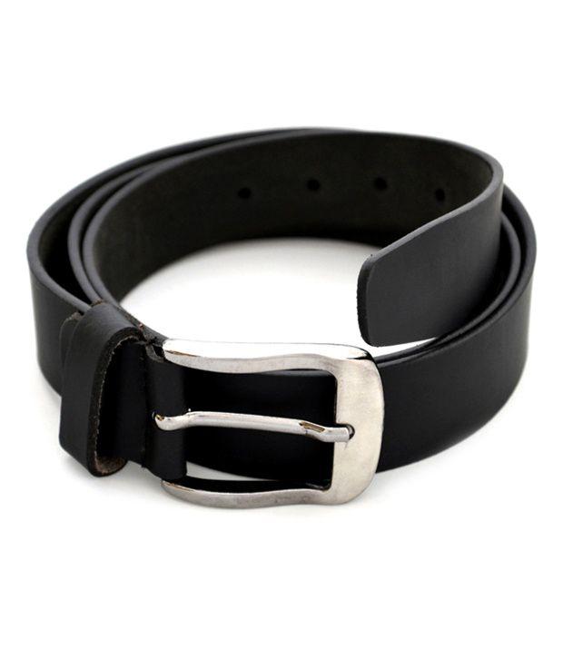 Urban Diseno Black Leather Belt For Men