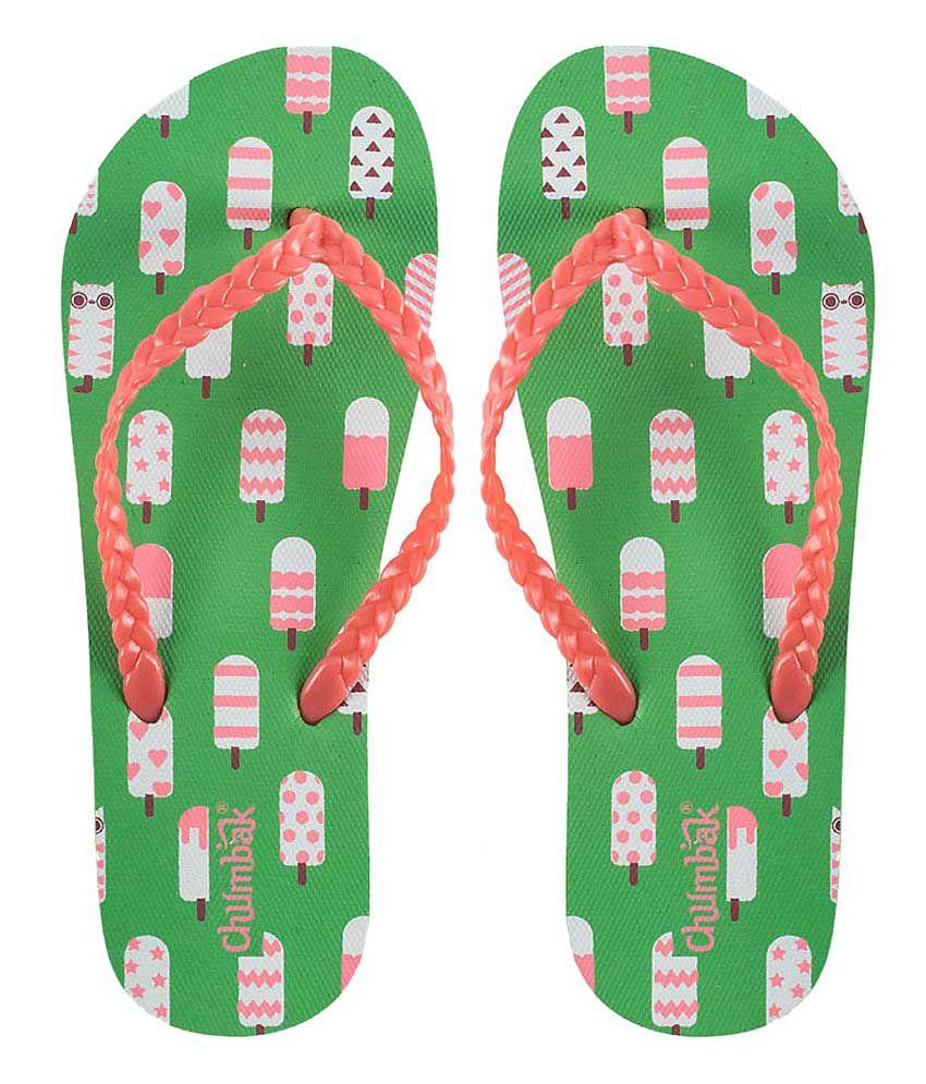 Chumbak Red Flip Flops