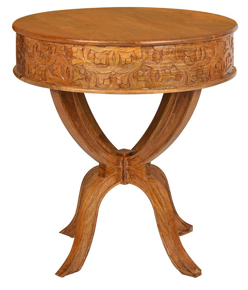 @Home Vesta Solid Wood Side Table