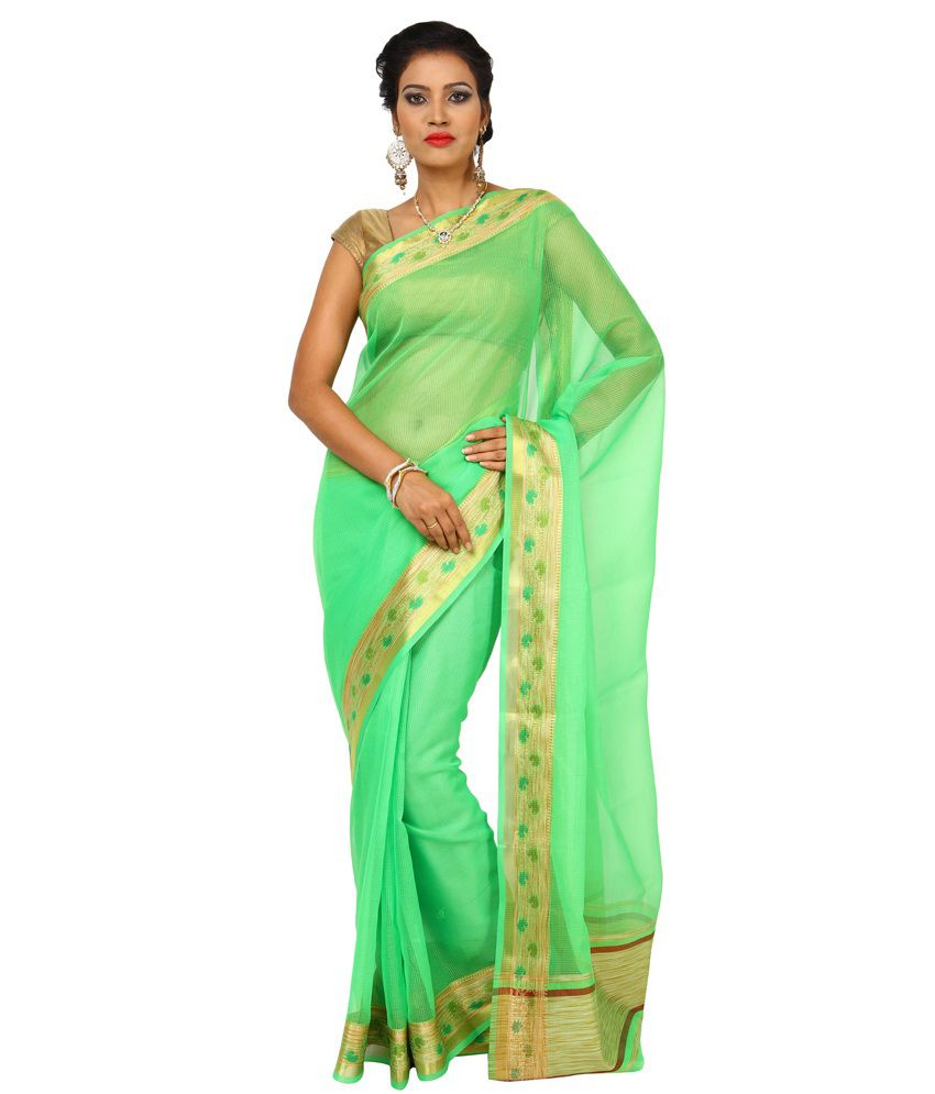 49b6b66f14b19e Kataan Bazaar Parrot Green Color Banarasi Woven Art Silk Saree - Buy Kataan  Bazaar Parrot Green Color Banarasi Woven Art Silk Saree Online at Low Price  ...