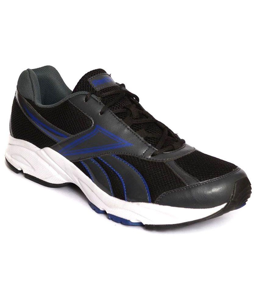 reebok record runner black sports shoes buy reebok