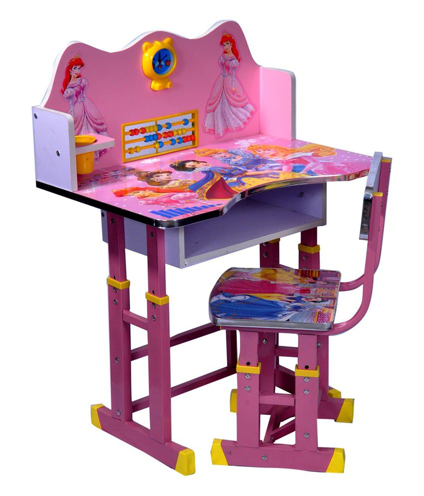 Wood Wizard Barbie Kids Study Table Set Buy Wood Wizard