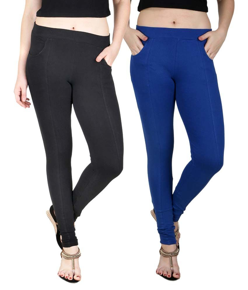 Baremoda Multi Color Cotton Lycra Jeggings