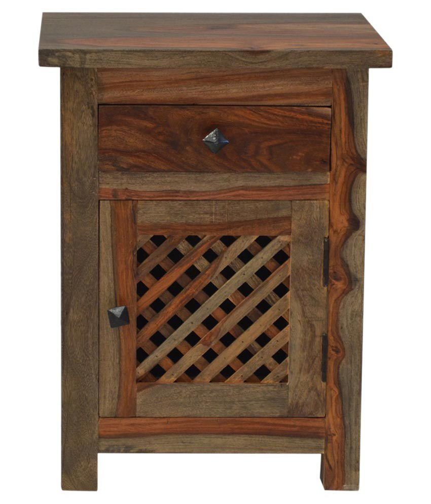 Shekhawati Solid Wood Bed Side Table
