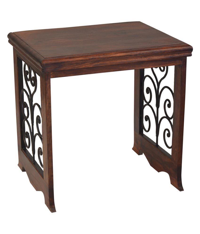 ... Shekhawati Solid Wood Nesting Table Set Of 3 ...