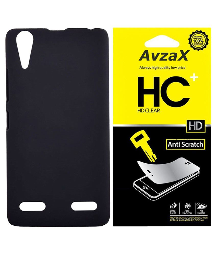 Avzax Back Cover For Apple Iphone 6-black With Screen Guard