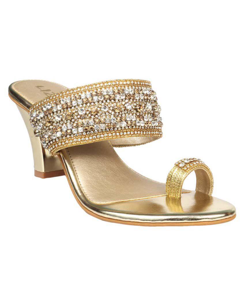 Liza Golden Heeled Slip-ons