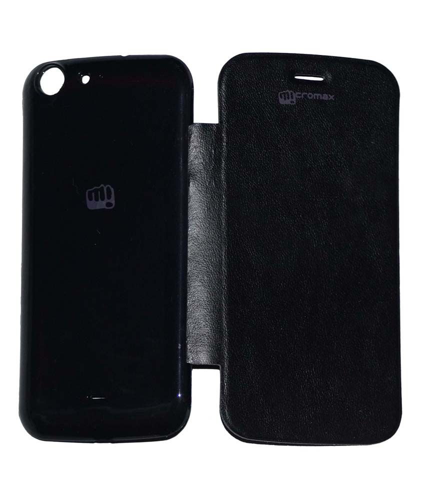 Osr Flip Cover For Micromax Canvas 4 A210 - Black
