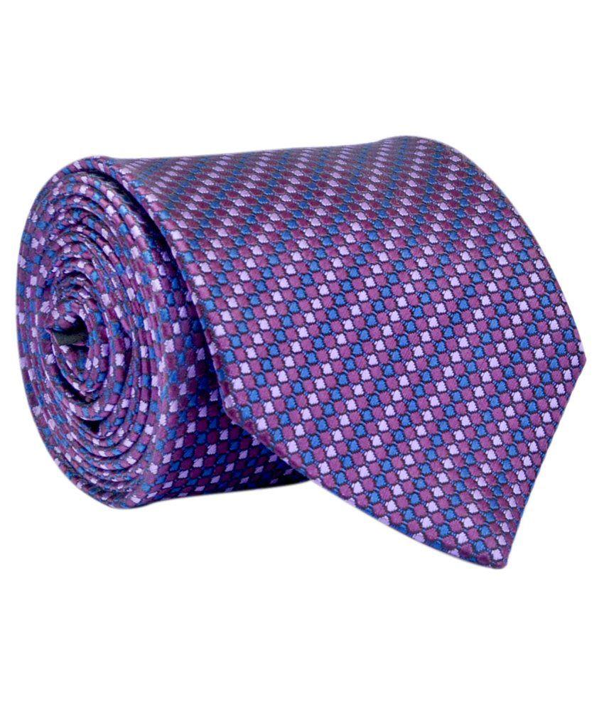 Calvadoss Purple Formal Tie For Men
