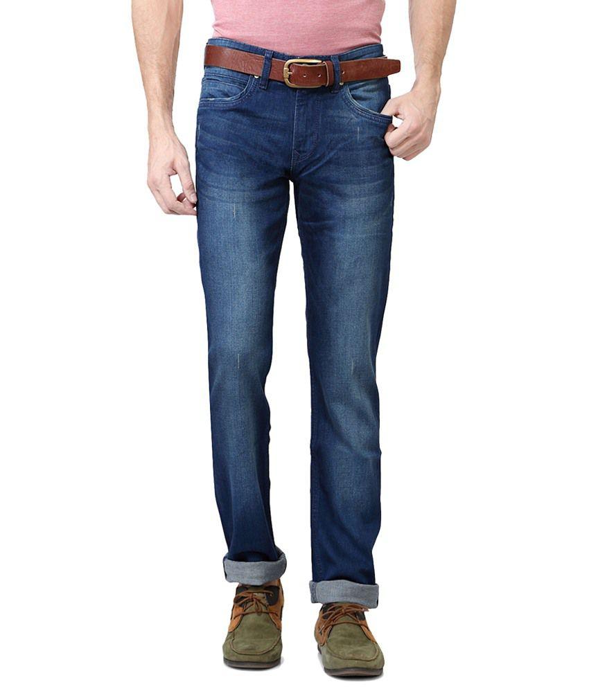 Peter England Blue Slim Fit Jeans