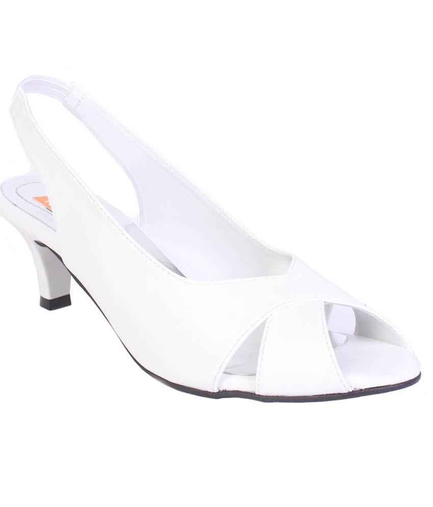 Tycoon White Stiletto Heels
