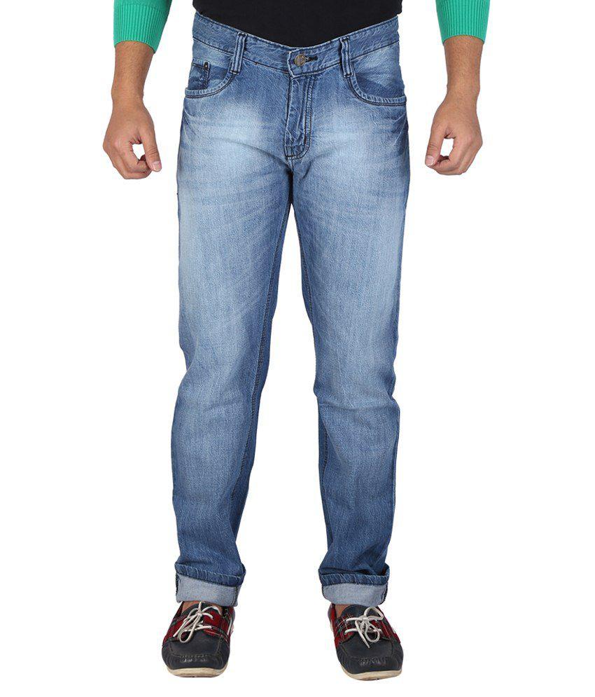 Wineglass Blue Cotton Denims Non Stretch Jeans