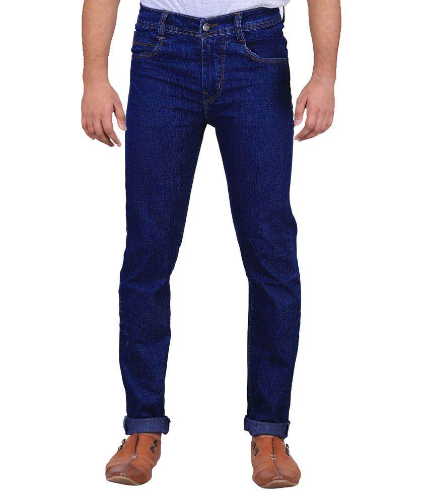 Ansh Fashion Wear Blue Slim Fit Jeans