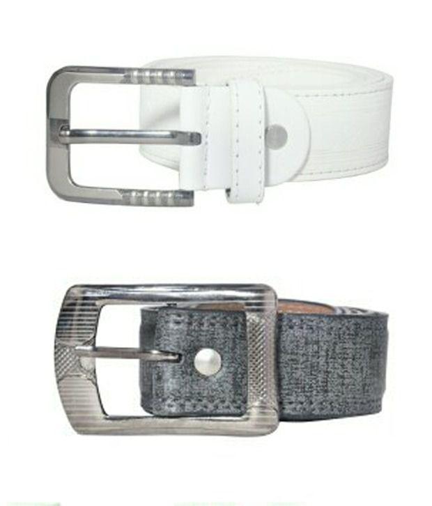 Scotlane White Leather Belt For Men