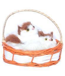 Kashish Toys Brown & White Musical & Lighting Cute Catty