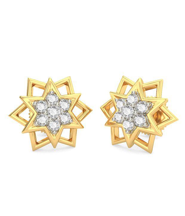 BlueStone 14K Yellow Gold Diamond Asta Earrings