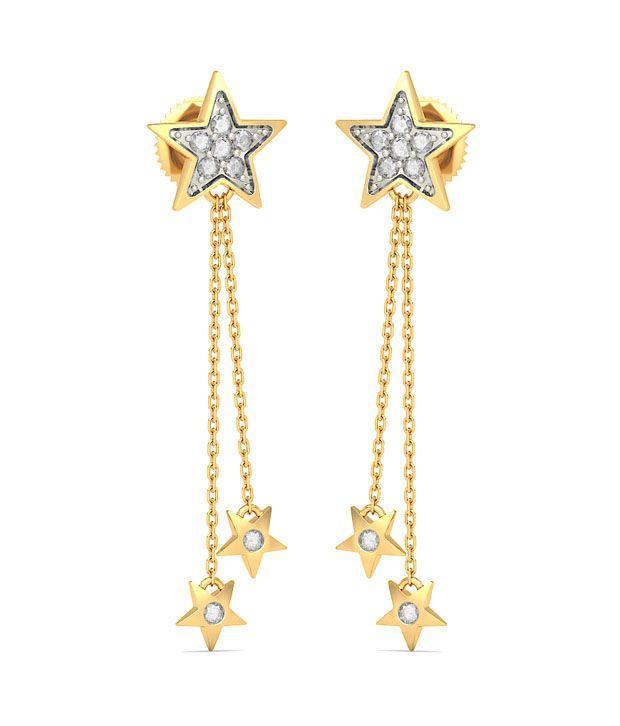 BlueStone 14K Yellow Gold Diamond Stella Earrings