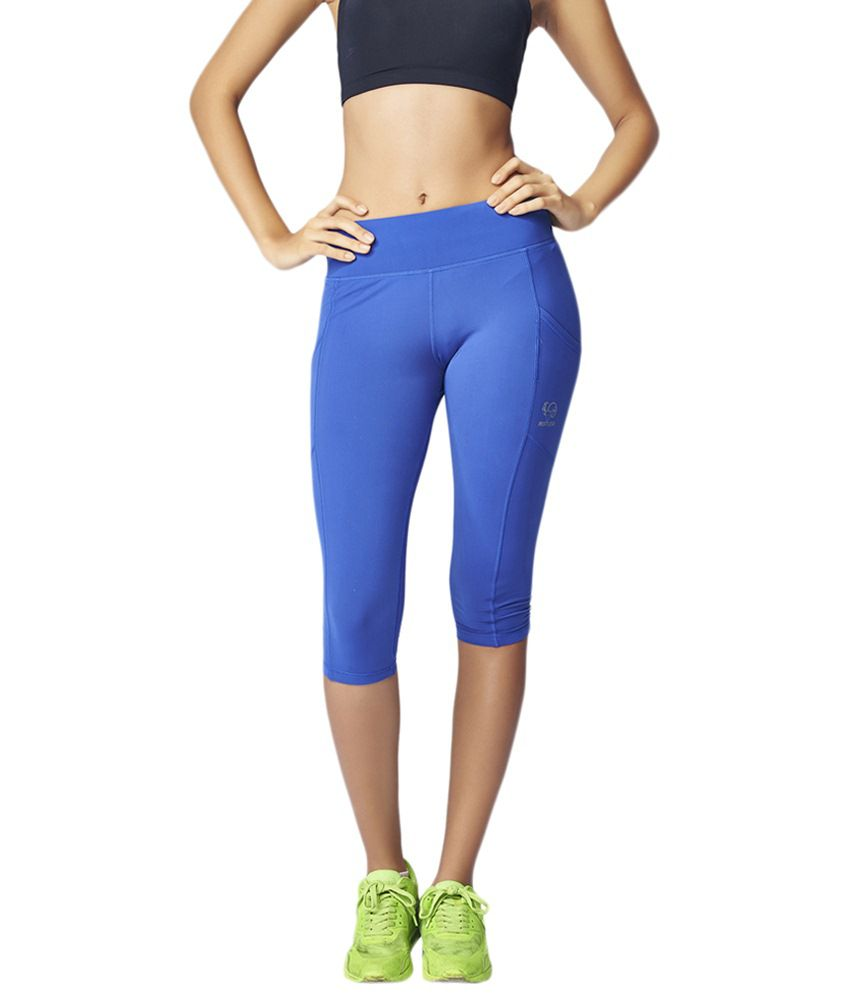 Restless Blue Stretchable Sports Capris